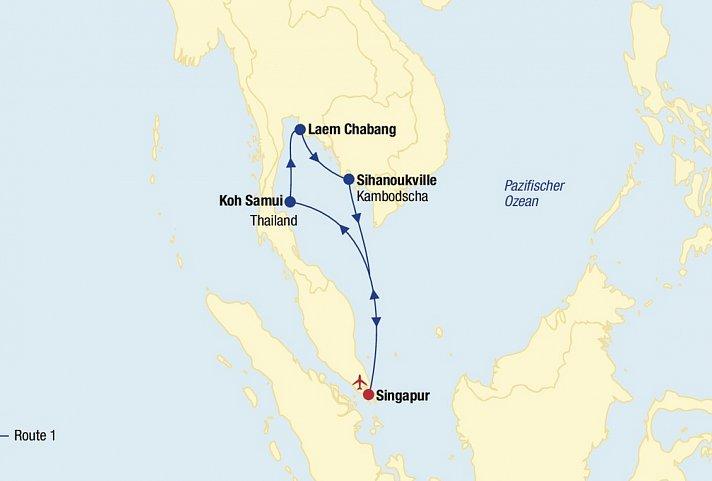 Asien Kreuzfahrt (Route 1 ab Singapur) » AsienClevertours