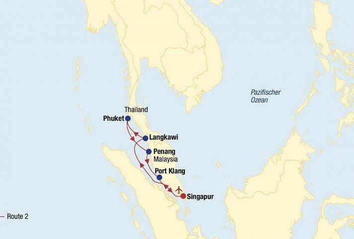 Asien Kreuzfahrt (Route 2 ab Singapur) » AsienClevertours